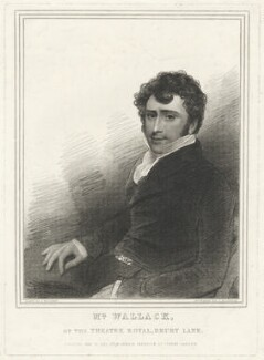 James William Wallack, by Thomas Woolnoth, published by  William Cribb, after  Thomas Charles Wageman - NPG D38013