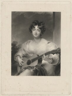 Elizabeth Blake (née Lock), Lady Wallscourt, by George Henry Phillips, published by  Hodgson & Graves, after  Sir Thomas Lawrence - NPG D38506