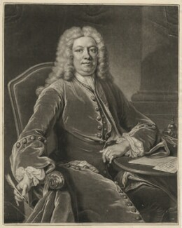 Horatio Walpole, 1st Baron Walpole of Wolterton, by John Simon, after  Jean Baptiste van Loo - NPG D38508