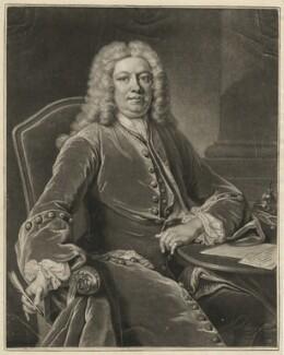Horatio Walpole, 1st Baron Walpole of Wolterton, by John Simon, after  Jean Baptiste van Loo, 1741 (1739) - NPG D38508 - © National Portrait Gallery, London