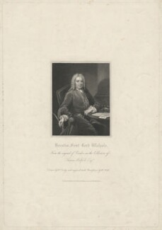 Horatio Walpole, 1st Baron Walpole of Wolterton, by William Holl Sr, published by  Harding & Lepard, after  William Derby, after  Jean Baptiste van Loo - NPG D38509