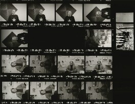 Contact sheet including Craig Edward Moncrieff Brown; Tony Rushton; Richard Ingrams, by Eric Hands - NPG x133202