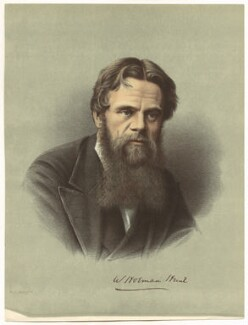 William Holman Hunt, printed by Maclure & Macdonald, after  London Stereoscopic & Photographic Company - NPG D38705