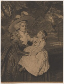 Mrs Seaforth ('A Lady and Child'), by Joseph Grozer, after  Sir Joshua Reynolds - NPG D38099