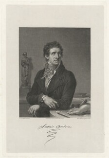 Antonio Canova, by William Henry Worthington, published by  Septimus Prowett, after  François Xavier Fabre - NPG D38512