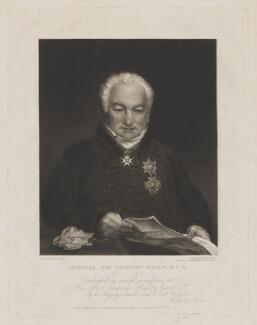Sir Edmund Nagle, by William James Ward, published by  William Sams, after  William Corden - NPG D38448