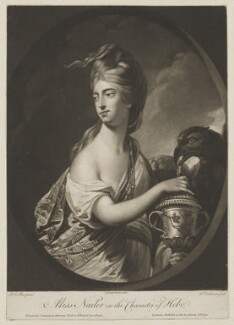Miss Nailer (Naylor) as Hebe, by William Dickinson, published by  Carington Bowles, after  Robert Edge Pine - NPG D38449