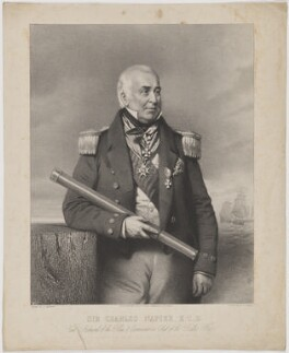 Sir Charles Napier, printed by M & N Hanhart, published by  Ackermann & Co, after  Charles Baugniet - NPG D38453