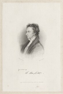 William Hazlitt, by Marr, published by  Saunders & Otley, after  William Bewick - NPG D38514