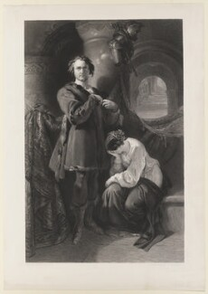 William Charles Macready as Werner, by Charles William Sharpe, after  Daniel Maclise - NPG D38124