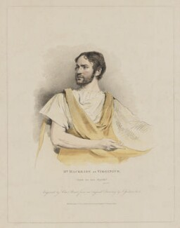 William Charles Macready as Virginius, by Charles Picart, published by  Colnaghi & Co, after  John Jackson - NPG D38126