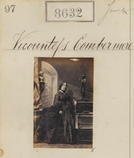 Mary Woolley (née Gibbings), Viscountess Combermere, by Camille Silvy - NPG Ax58455