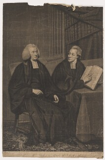 Martin Madan; Charles Edward de Coetlogon, by James Watson, after  George James - NPG D38137