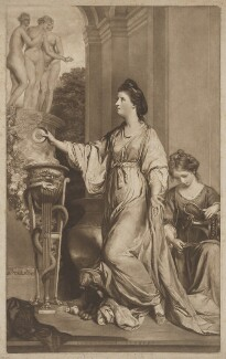 Lady Sarah Napier (née Lennox, formerly Bunbury) when Lady Sarah Bunbury, by and published by Edward Fisher, after  Sir Joshua Reynolds - NPG D38469