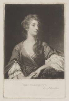 Elizabeth Napier (née Greenway), by Samuel William Reynolds, or by  Samuel Cousins, published by  Henry Graves & Co, after  Sir Joshua Reynolds - NPG D38471