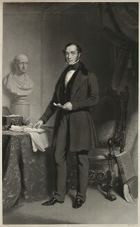 John Walter, by Samuel Bellin, after  John Lucas - NPG D38521