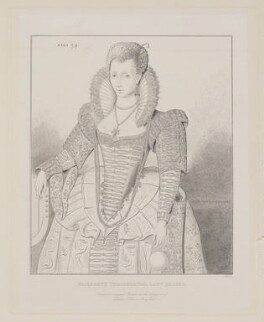 probably Elizabeth ('Bess') Ralegh (née Throckmorton), Lady Ralegh, probably by Robert Charles Bell, after  Unknown artist - NPG D38707