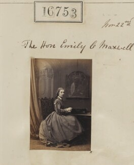 Hon. Emily Josephine Constable-Maxwell, by Camille Silvy - NPG Ax64643