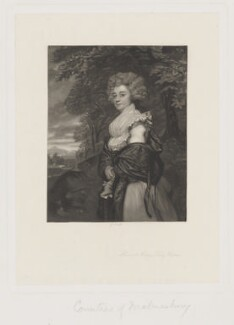 Harriet Maria Harris (née Amyand), Countess of Malmesbury, by James Scott, after  Sir Joshua Reynolds - NPG D38169