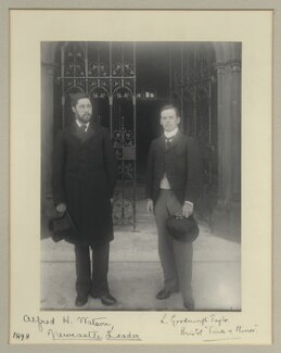 Sir Alfred Henry Watson; Sir Lionel Goodenough Taylor, by Benjamin Stone - NPG x133298