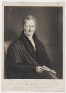 Thomas Robert Malthus, by John Linnell - NPG D38173