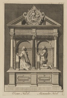 The Neville Monument in Canterbury Cathedral (Thomas Neville; Alexander Neville (Nevile)), by James Cole - NPG D38498