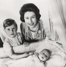 Prince Andrew, Duke of York; Queen Elizabeth II; Prince Edward, by Cecil Beaton - NPG x133277