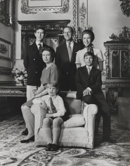 Queen Elizabeth II and family, by Desmond Groves - NPG x133278