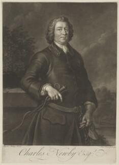 Charles Newby, by John Faber Jr, after  Charles Philips - NPG D38712