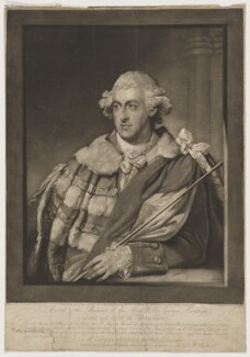 George Montagu, 4th Duke of Manchester, by John Jones, published by  William Austin, after  Gilbert Stuart - NPG D38181
