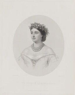 Louise Frederica Augusta Cavendish (née von Alten), Duchess of Devonshire (formerly Duchess of Manchester), by William Henry Mote, published by  Henry Graves & Co, after  Friedrich Kaulbach - NPG D38188