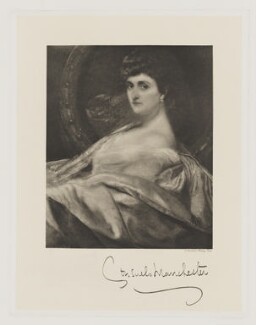 Consuelo Montagu (née Yznaga), Duchess of Manchester, by Frederick John Jenkins - NPG D38189