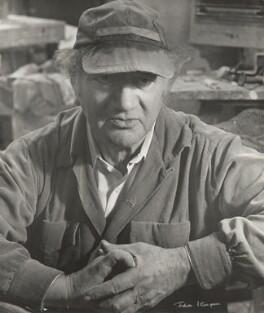Jacob Epstein, by Ida Kar, 1953 - NPG x133283 - © National Portrait Gallery, London