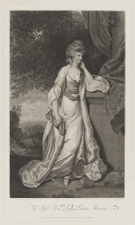 Louisa Manners (née Tollemache), 7th Countess of Dysart, by Charles Knight, published by  Anthony Molteno, after  Sir Joshua Reynolds - NPG D38197