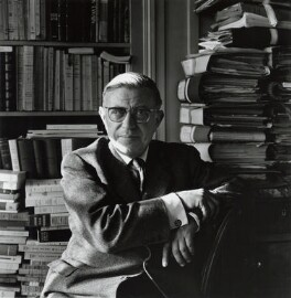 Jean-Paul Sartre, by Ida Kar, 1961 - NPG  - © National Portrait Gallery, London