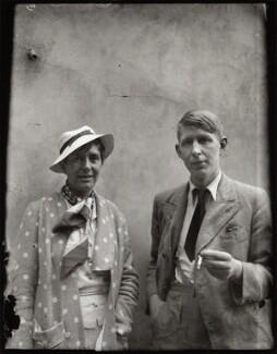 Erika Mann; W.H. Auden, by Alec Bangham - NPG x133302
