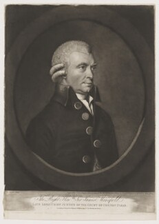 Sir James Mansfield, by John Jones, published by  Robert Wilkinson, after  Lewis Vaslet - NPG D38210