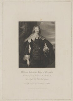 William Cavendish, 1st Duke of Newcastle-upon-Tyne, by William Holl Sr, published by  Harding, Triphook & Lepard, after  Sir Anthony van Dyck - NPG D38719