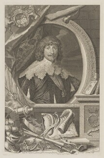 William Cavendish, 1st Duke of Newcastle-upon-Tyne, by George Vertue, after  Sir Anthony van Dyck, published by  John & Paul Knapton - NPG D38720