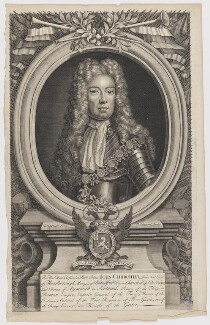 John Churchill, 1st Duke of Marlborough, by Robert Sheppard, after  Sir Godfrey Kneller, Bt - NPG D38233