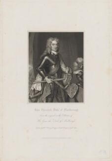 John Churchill, 1st Duke of Marlborough, by Robert Cooper, published by  Harding, Mavor & Lepard, after  William Derby - NPG D38237