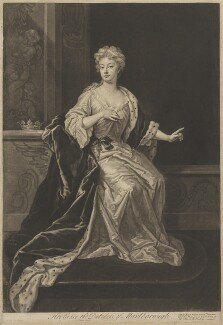 Sarah Churchill (née Jenyns (Jennings)), Duchess of Marlborough, by John Faber Jr, sold by  Robert Sayer, and sold by  John King, after  Sir Godfrey Kneller, Bt - NPG D38240