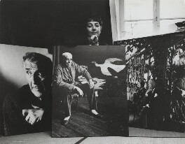 Ida Kar with her enlargements of Marc Chagall, Georges Braque and Noël Coward, by London Express News and Feature Services - NPG x133330
