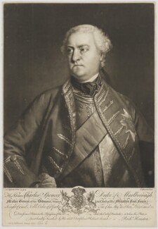 Charles Spencer, 3rd Duke of Marlborough, by and sold by Richard Houston, after  Sir Joshua Reynolds, (1758) - NPG D38243 - © National Portrait Gallery, London