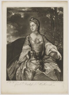Lady Caroline Spencer (née Russell), Duchess of Marlborough, by Richard Purcell (H. Fowler, Charles or Philip Corbutt), after  Sir Joshua Reynolds - NPG D38247