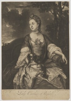 Lady Caroline Spencer (née Russell), Duchess of Marlborough, by Richard Purcell (H. Fowler, Charles or Philip Corbutt), after  Sir Joshua Reynolds, 1760s (circa 1759-1762) - NPG D38248 - © National Portrait Gallery, London