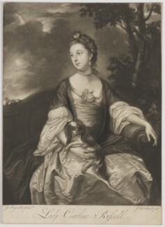 Lady Caroline Spencer (née Russell), Duchess of Marlborough, by James Macardell, after  Sir Joshua Reynolds - NPG D38249