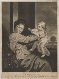 Duchess of Marlborough and Viscountess Clifden, by Richard Purcell (H. Fowler, Charles or Philip Corbutt), after  Sir Joshua Reynolds, published 20 April 1768 (1764-1767) - NPG D38250 - © National Portrait Gallery, London