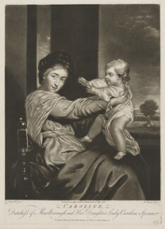 Duchess of Marlborough and Viscountess Clifden, by Richard Purcell (H. Fowler, Charles or Philip Corbutt), published by  Robert Sayer, after  Sir Joshua Reynolds - NPG D38251
