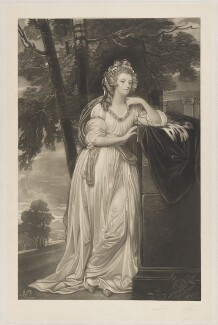 Lady Caroline Spencer (née Russell), Duchess of Marlborough, printed by A. Salmon, published by  Henry Graves & Co, after  George Romney - NPG D38255